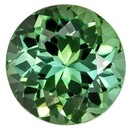 Unset Blue Green Tourmaline Gemstone, Round Cut, 1.42 carats, 7 mm , AfricaGems Certified - A Wonderful Find!