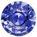 Natural Blue Sapphire Gemstone, Round Cut, 4.96 carats, 10.9 mm , AfricaGems Certified - A Fine Gem