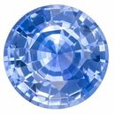 Natural Gem Blue Sapphire Round Shaped Gemstone, 0.97 carats, 5.9mm - Deal on Gem