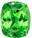 Natural Vivid Tsavorite Gemstone, Cushion Cut, 1.25 carats, 6.9 x 5.7 mm , AfricaGems Certified - A Fine Gem Stone