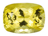 Natural Yellow Chrysoberyl Gemstone, Cushion Cut, 3.21 carats, 10.3 x 7.5 mm , AfricaGems Certified - A Strong Color