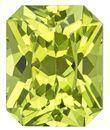 Natural Yellow Chrysoberyl Gemstone, Radiant Cut, 2.27 carats, 7.7 x 6.2 mm , AfricaGems Certified - A Deal