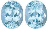 Nice Aquamarine Matching Gemstone Pair in Oval Cut, 4.29 carats, Medium Dark Blue, 9.3 x 7.2 mm