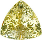 Real Yellow Sapphire Gemstone, Trillion Cut, 3.97 carats, 10.25 x 9.98 mm , AGL Certified - A Low Price Top Gem
