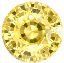 No Heat Must See Yellow Sapphire Gemstone, 3.1 Carats, Round Shape, 8.02 x 5.9 mm, Stunning Pure Yellow Color
