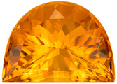 One-of-a-Kind Citrine Genuine Loose Gemstone in Fancy Cut, 14.43 carats, Vivid Golden Yellow, 19 x 14 mm
