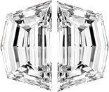Pair of Cadi Cut Diamonds Step Cut F Color  VS Clarity