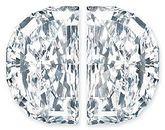 Pair of Half Moon Diamonds Brilliant Cut G-H Color VS Clarity