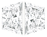 Pair of Trapezoid Diamonds Brilliant Cut F Color VS1 Clarity