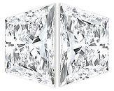 Pair of Trapezoid Diamonds Brilliant Cut G-H Color VS1 Clarity
