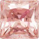 Peach Swarovski Cubic Zirconia Princess Stones