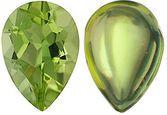 <b>Peridot Pear Cut - Calibrated</b>