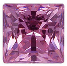 Pink Cubic Zirconia Princess Cut Stones