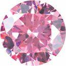 Pink Cubic Zirconia Round Cut Stones