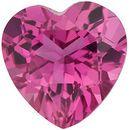 Pink Tourmaline Heart Cut in Grade AAA