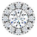 Real Diamond Pendant in Platinum 1/3 Carat Diamond Pendant