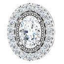 Real Diamond Pendant in Platinum 5/8 Carat Diamond Pendant
