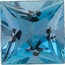 Princess Cut Genuine Aquamarine in Grade GEM