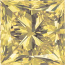 Princess Cut Yellow Enhanced Genuine Diamonds
