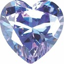 Purple Cubic Zirconia Heart Cut Stones