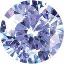 Purple Cubic Zirconia Round Cut Stones