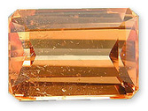 Radiant Rich Vibrant Orange Tangerine Garnet Gemstone, Emerald Cut, 1.52 carats