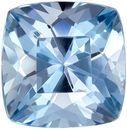 Rare Aquamarine Genuine Loose Gemstone in Cushion Cut, 0.83 carats, Vivid Rich Blue, 5.9 mm