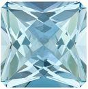 Rare Aquamarine Genuine Loose Gemstone in Radiant Cut, 12.29 carats, Pure Rich Blue, 14.8 x 14.8 mm
