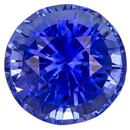 Real Blue Sapphire Gemstone, Round Cut, 2.71 carats, 7.8 mm , AfricaGems Certified - A Beauty of A Gem