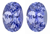 Real Blue Sapphire Gemstones, Oval Cut, 4.26 carats, 9.2 x 6.5 mm Matching Pair, AfricaGems Certified - A Fine Gem Pair
