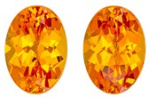 Real Orange Spessartite Gemstones, Oval Cut, 2.11 carats, 7 x 5 mm Matching Pair, AfricaGems Certified - A Low Price