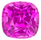 Fine Hot Pink Sapphire Gemstone, Cushion Cut, 2.00 carats, 6.78 x 6.64 x 5.24 mm , GIA Certified - Unusually Fine