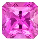 Real Pink Sapphire Gemstone, Radiant Cut, 0.4 carats, 3.9 mm , AfricaGems Certified - A Great Colored Gem