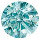 Round Aqua Blue Enhanced Diamond