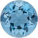 Round Cut Genuine Aquamarine in Grade AAA