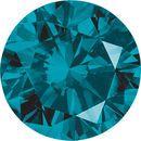 Round Teal Blue Enhanced Diamond