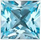 Sky Blue Topaz in Grade AAA in Princess Cut