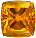 So Pretty Gemstone Orange Citrine Cushion Cut, 46.79 carats, 22.8 x 21.8 mm