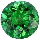 Special Blue Green Tourmaline Loose Gem in Round Cut, 8 mm, Open Grass Green, 1.96 carats