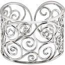 Natural Diamond Bracelet in Sterling Silver 3/8 Carat Diamond Cuff Bracelet