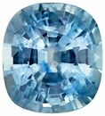Striking Blue Green Sapphire Cushion Shaped Gemstone, 1.51 carats, 6.6 x 6mm - Low Price