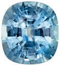 Striking Blue Green Sapphire Cushion Shaped Gemstone, 1.51 carats, 6.6 x 6mm - Low Price