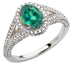 Low Price on Oval Cut Genuine Alexandrite of .85ct GEM Mounted in Custom Made White Gold Diamond Ring