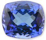 Stunning Antique Cushion Cut Natural Tanzanite Gemstone 3.91 carats