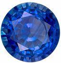 Stunning Blue Sapphire Gemstone, 1.1 Carats, Round Shape, 6.4 mm, Stunning Rich Blue Color
