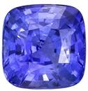 Stunning Blue Sapphire Gemstone, 4.32 carats, Cushion Shape, 9 x 8.9 mm, A Wonderful Find & Low Price