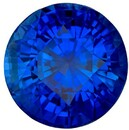 Super Gem Blue Sapphire Gemstone, 6.02 Carats, Round Shape, 10.27 x 7.28 mm, Stunning Royal Blue Color with GIA Cert