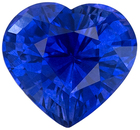 Genuine Loose Blue Sapphire Gemstone in Heart Cut, 1.59 carats, Rich Royal Blue, 7.2 x 6.8 mm