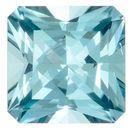 Super Fine Gem, Great Deal  Blue Tourmaline Genuine Gemstone, 0.83 carats, Radiant Shape, 5.5 mm