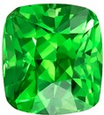 Super Great Buy on Cushion Cut Loose Tsavorite Loose Gemstone, 1.56 carats, 6.6 x 6 mm , Stunning Fine Stone